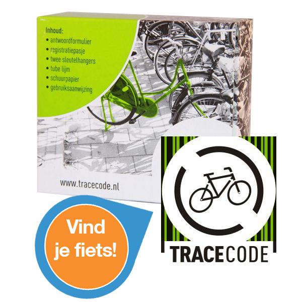 TRACECODE maakt fietsen vindbaar