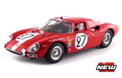 Ferrari 250 LM 27 BOLLER/SPOERRY 24H LE MANS 1965 (1:43) (BEST) Rood/wit
