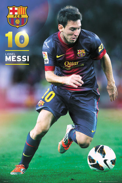 Poster Barcelona Messi 91 x 62 cm