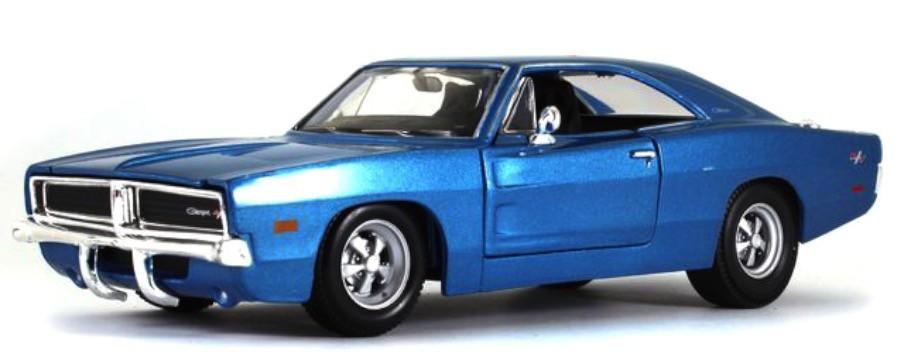DODGE CHARGER R/T 1969 Blauw (1:24) MAISTO