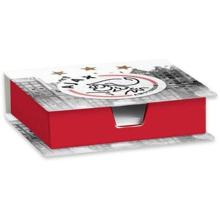 Memobox Ajax grijs-rood logo
