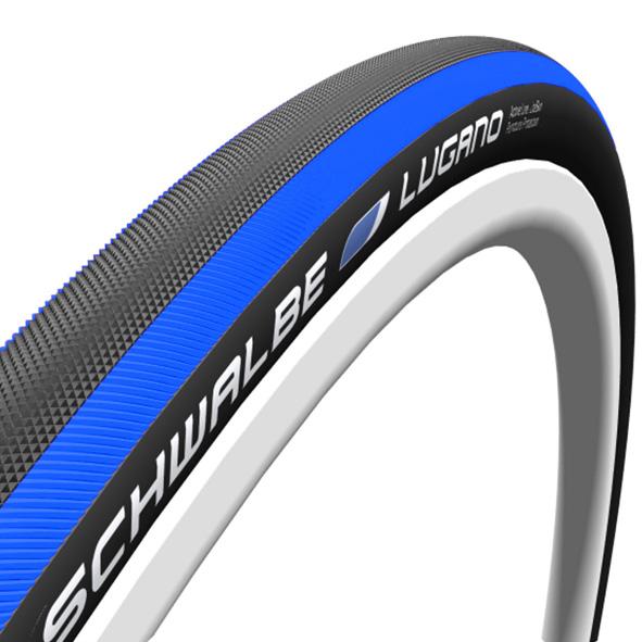 Schwalbe buitenband 700x23 Lugano V blauw
