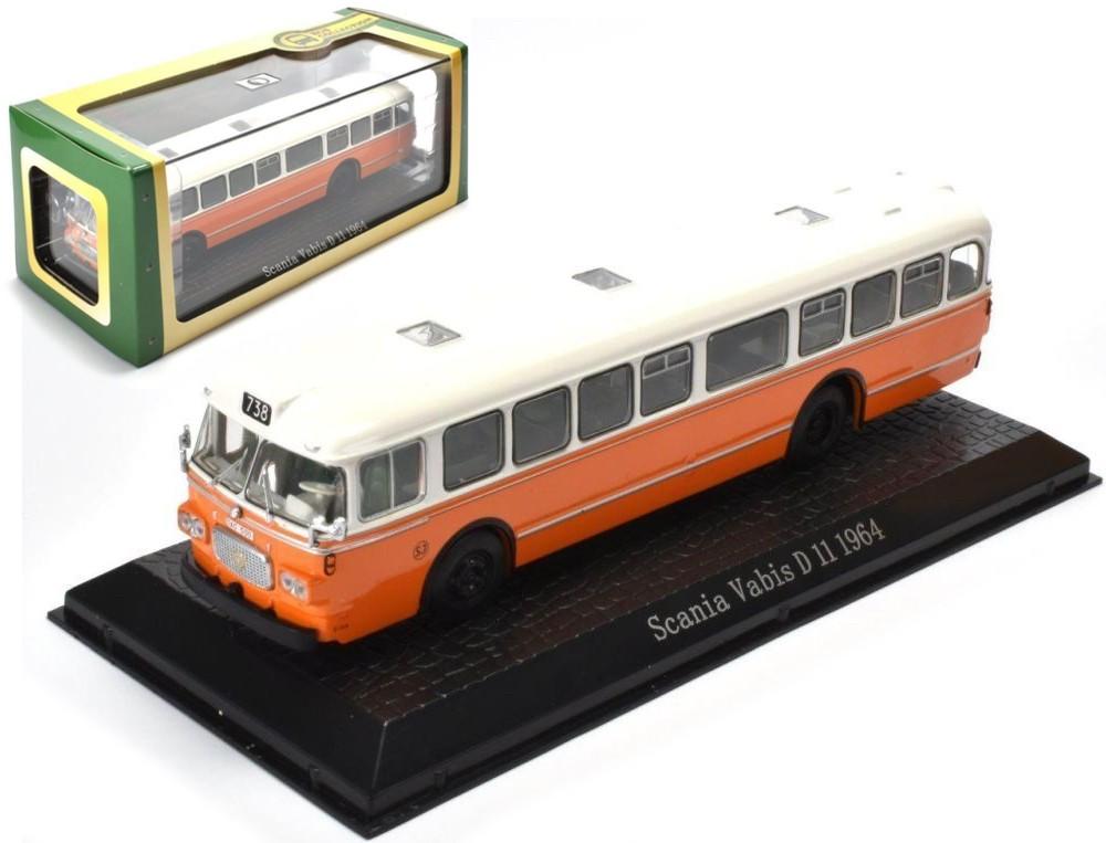 Scania VABIS D 11 1964 (1:72) Oranje/wit
