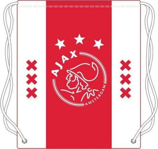 Zwemtas Ajax wit-rood-wit XXX 34x45 cm (ZWEM011604)