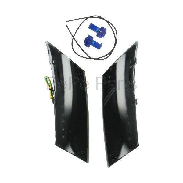 Knipperlichtset led mod. audi weglopend zip2000 zwart/transparant achter