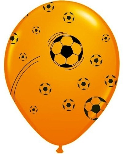 Ballonnen Holland Oranje Voetbal 25 Stuks