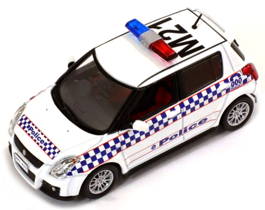 SUZUKI SWIFT AUSTRALIA MELBOURNE POLICE CAR 2010 (1:43)
