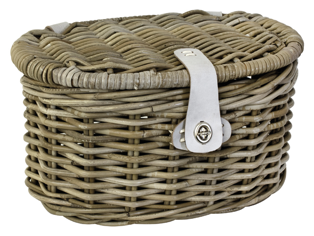 ROTAN MAND JUNIOR MET KLEP OVAAL NATUREL