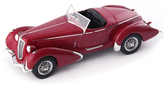 Amilcar G36 PEGASE GP ROADSTER 1935 Donker rood (1:24) AUTOCULT