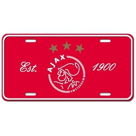 Nummerplaat Ajax rood (NUMM011601)