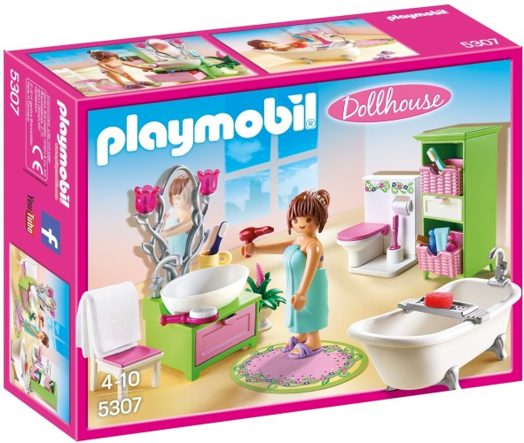 Playmobil Badkamer met bad op pootjes Playmobil (5307)