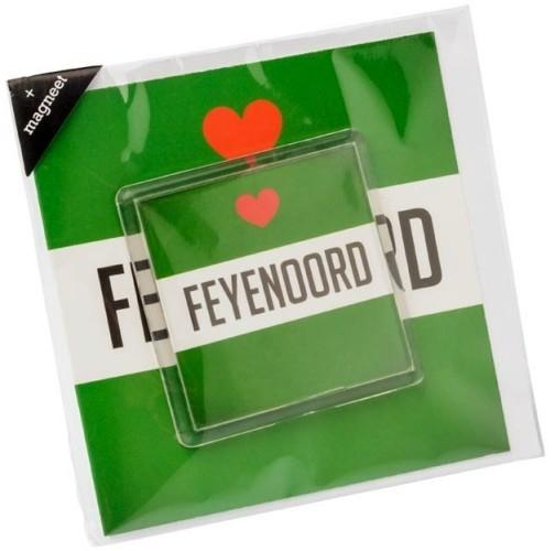 Wenskaart Feyenoord Magneet Groen/wit