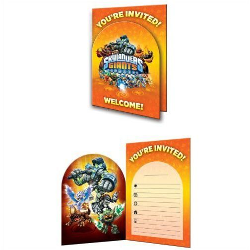 Uitnodiging Skylanders Invitations 8-Pack