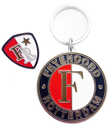 Sleutelhanger Feyenoord Logo+ Pin Metaal (SLEU020556-BU)