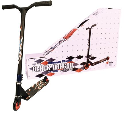 STUNT SCOOTER STEP BLACK DRAGON BLACK/ ORANGE