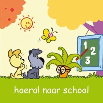 Wenskaart Woezel en Pip Naar School