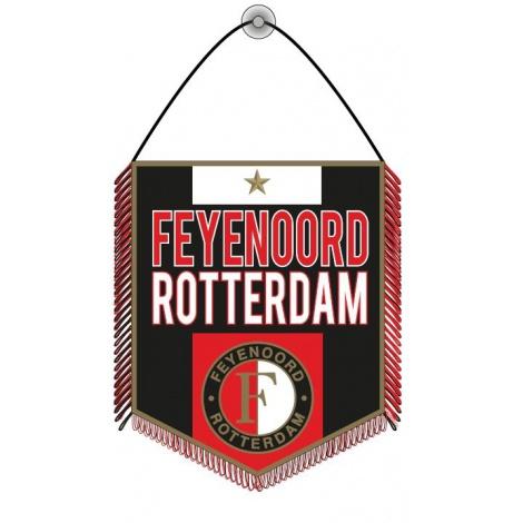 Banier Feyenoord Groot Zwart 22x25CM