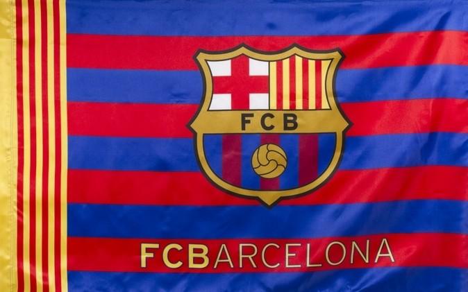 Vlag Barcelona groot 100x150 cm Bars (5004BAH1)