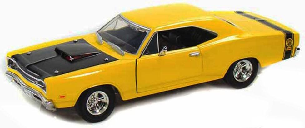 Dodge CORONET SUPERBEE 1969 GEEL MOTORMAX (1:24)