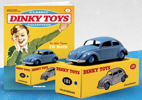 VW KEVER COX BLAUW (I:43) DINKY TOYS