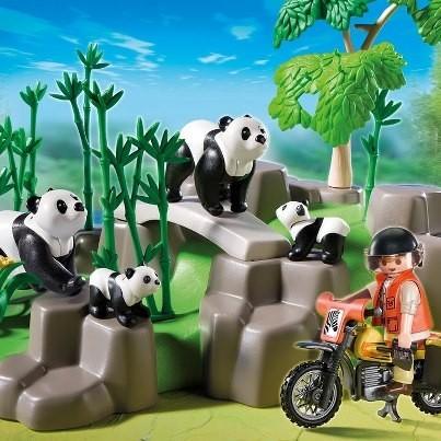 Pandafamilie in Bamboebos Playmobil 5414