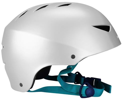 Fietshelm Skate Helm Aggressive L Zilver