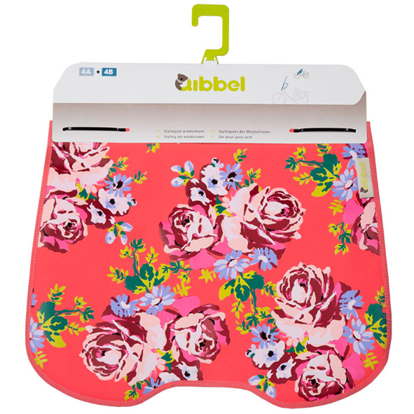 Qibbel Stylingset windschermflap Roses Coral