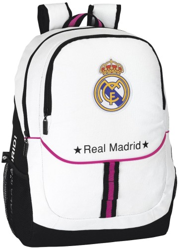 Rugzak Real Madrid wit 44x32x16 cm