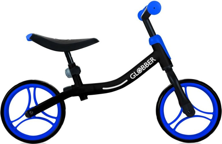 Loopfiets Go Bike Globber zwart-blauw (61013)