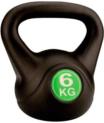 Kettle Bell Plastic/Cement 6 kg Halter