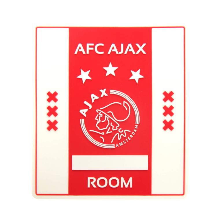 Naambordje Ajax rubber 10x12 cm