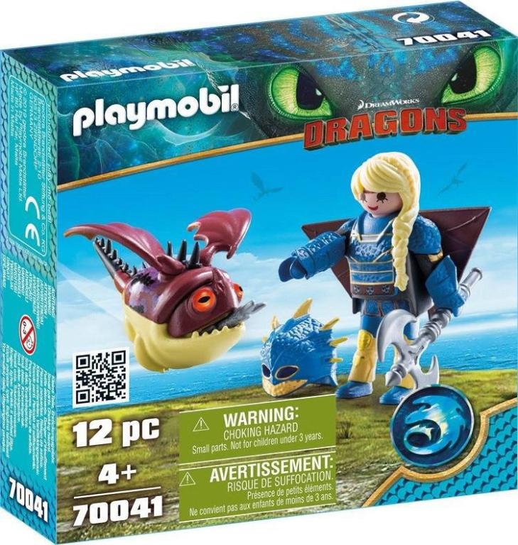 Astrid in vliegpak en Schrokop Playmobil 70041