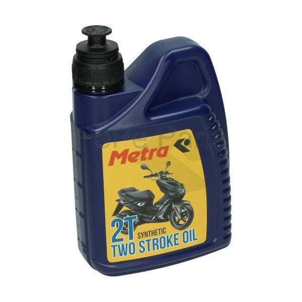 Smeermiddel olie 2t half synth 1L fles Metrakit