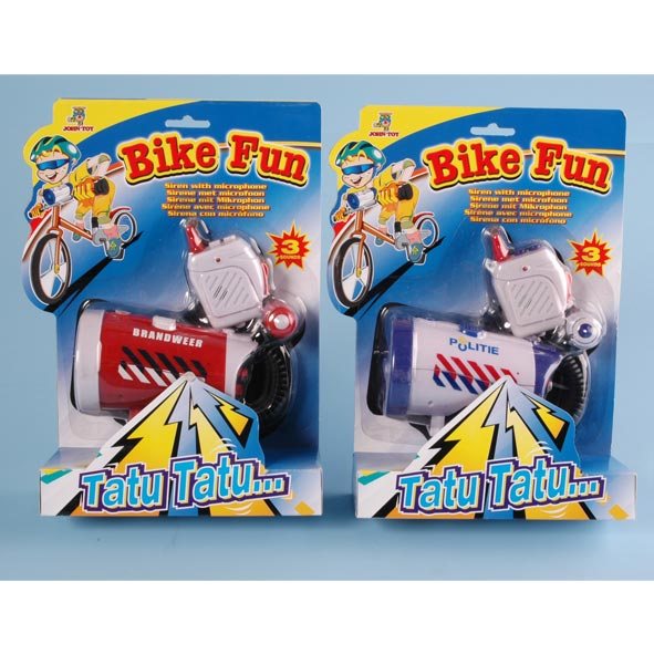 Bike Fun sirene met microfoon