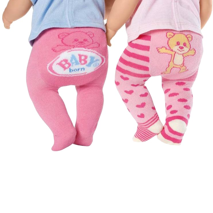 Maillots Baby Born 2-pack Roze Hart-Stip