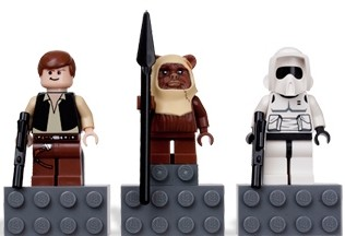 Lego Lego Han Solo Magneten 3-Pack