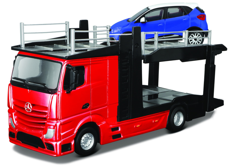 MERCEDES ACTROS 2545 CAR CARRIER + 1 CAR 2016(1:43)