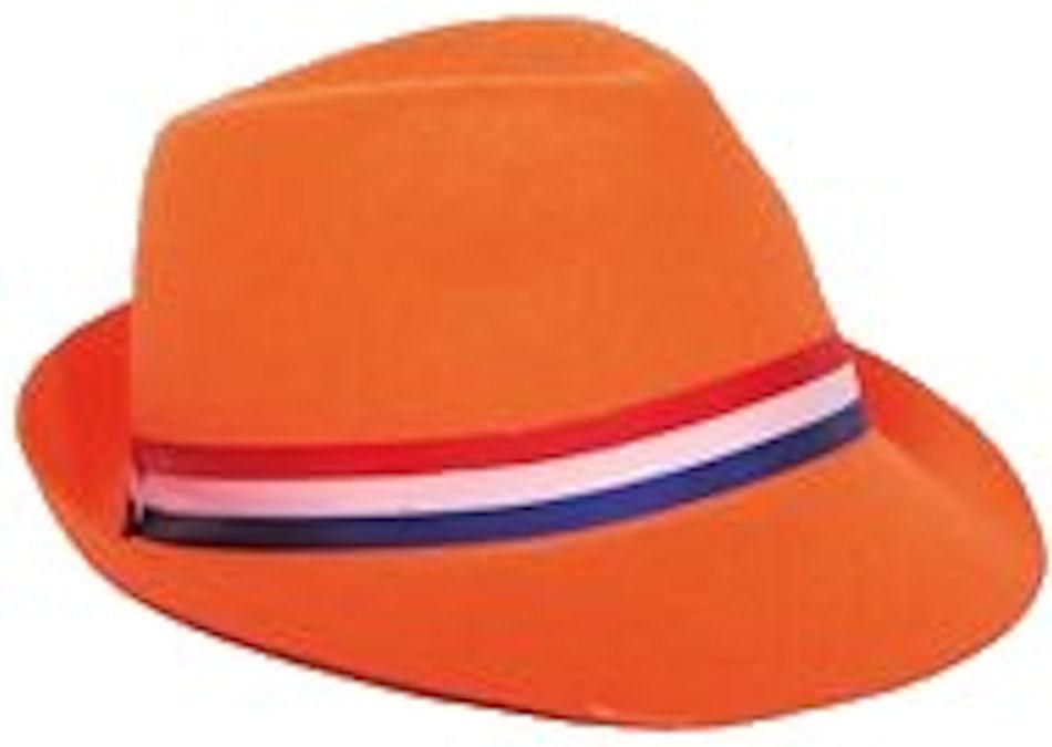 Hoed Holland Tribly Oranje met R/W/BL Lint