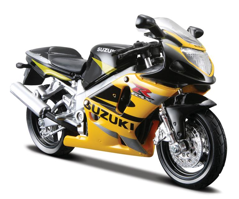Suzuki gsx-r600 (geel/zwart) (MAISTO 1:18)
