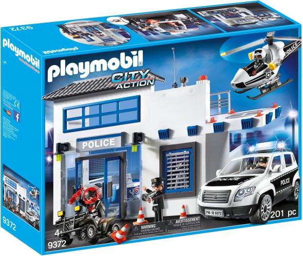 Politiepost met voertuigen Playmobil (9372)