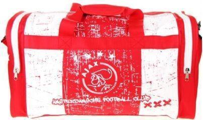 Sporttas Ajax rood-wit Grunge 50x28x30 cm