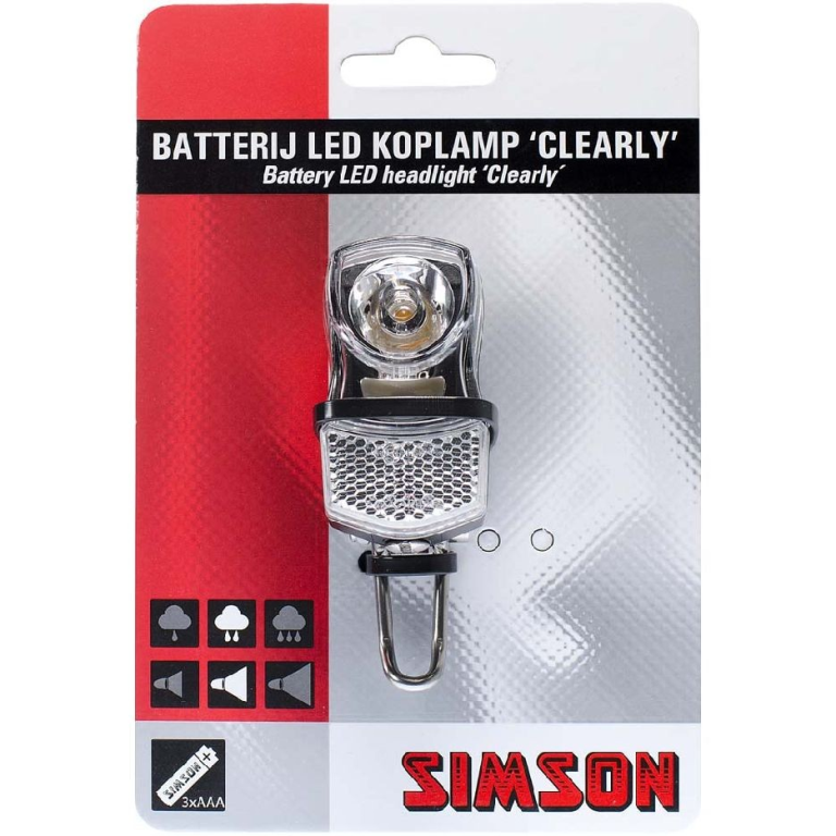 BATTERIJ LED KOPLAMP CLEARLY