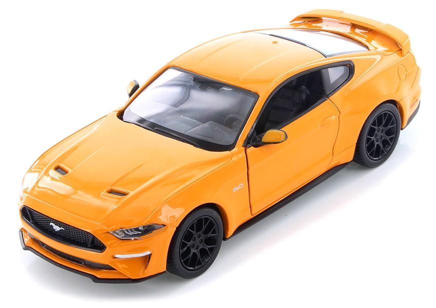 Ford MUSTANG 2018 ORANJE  (1:24) MOTORMAX