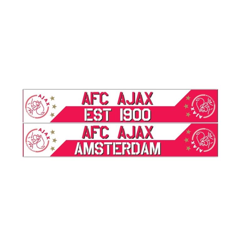 Ajax Sjaal Wit-Rood est 1900 3 Sterren