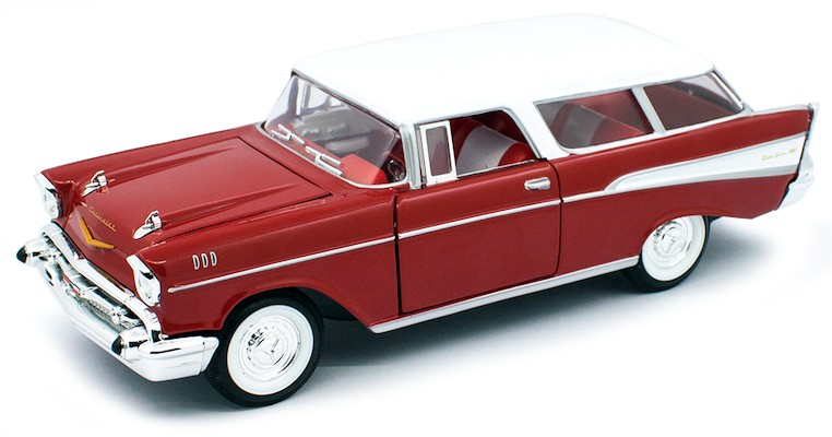 CHEVROLET NOMAD 1957 ROOD/WIT (1:24) LUCKY-ROAD-LEGEND