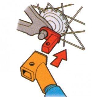 KARD XLC KOPPELING CONTRA VIERKANT (3092009200)