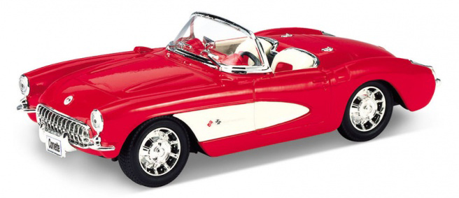 CHEVROLET CORVETTE CABRIOLET 1957 ROOD WELLY (1:18) (29393R-38748)