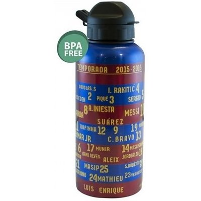 Bidon Barcelona blauw/rood aluminium team 400 ml