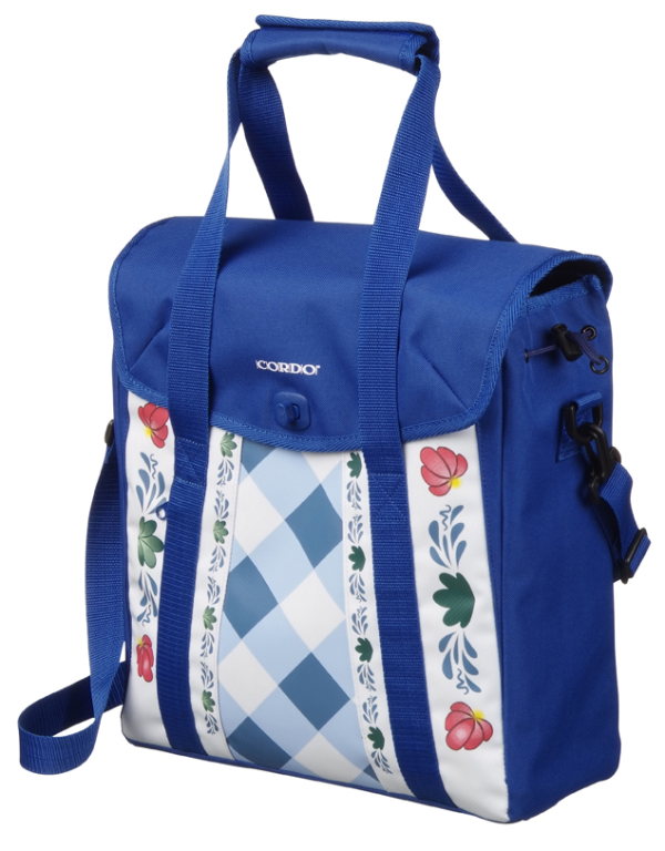 CORDO GLORIOUS DUTCH SHOPPER/RUGTAS BLAUW