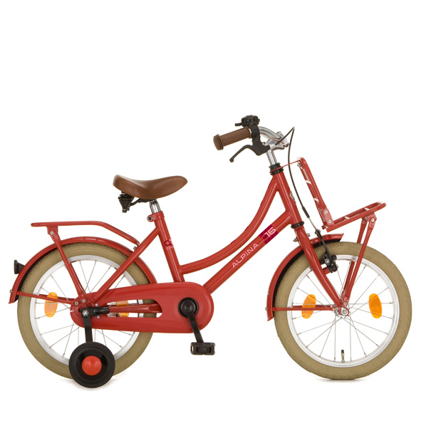 ALPINA CARGO FIETS 16INCH M ROOD